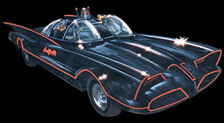 Booster Gold Batmobile