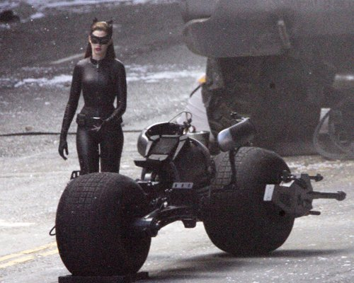 Catwoman and the Batpod