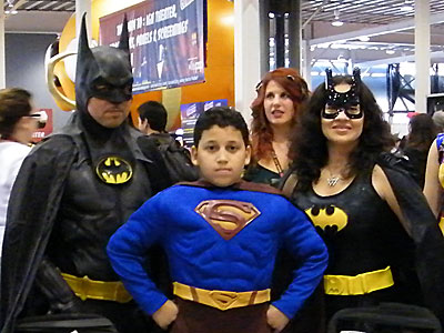 Bat Family cosplayers at NYCC 2011